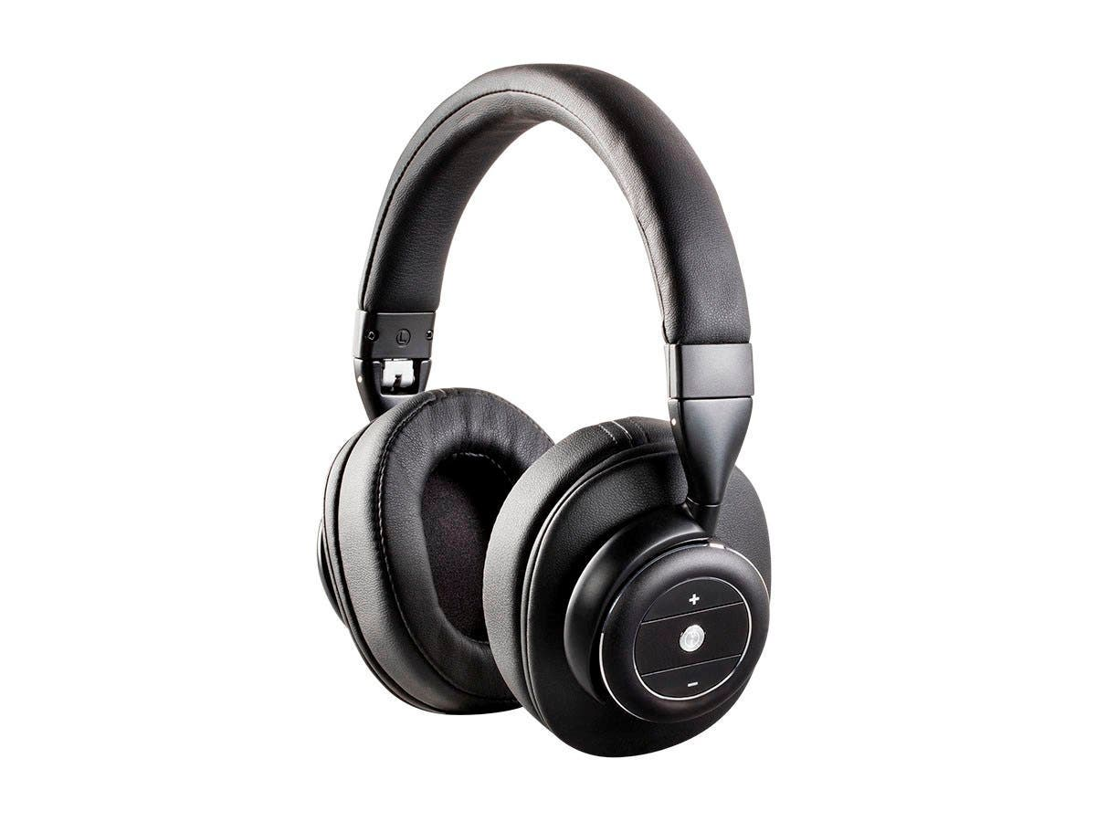 Monoprice SonicSolace Active Noise Cancelling Bluetooth Wireless Headphones  Black Over Ear Headphones (Bulk Packaging)
