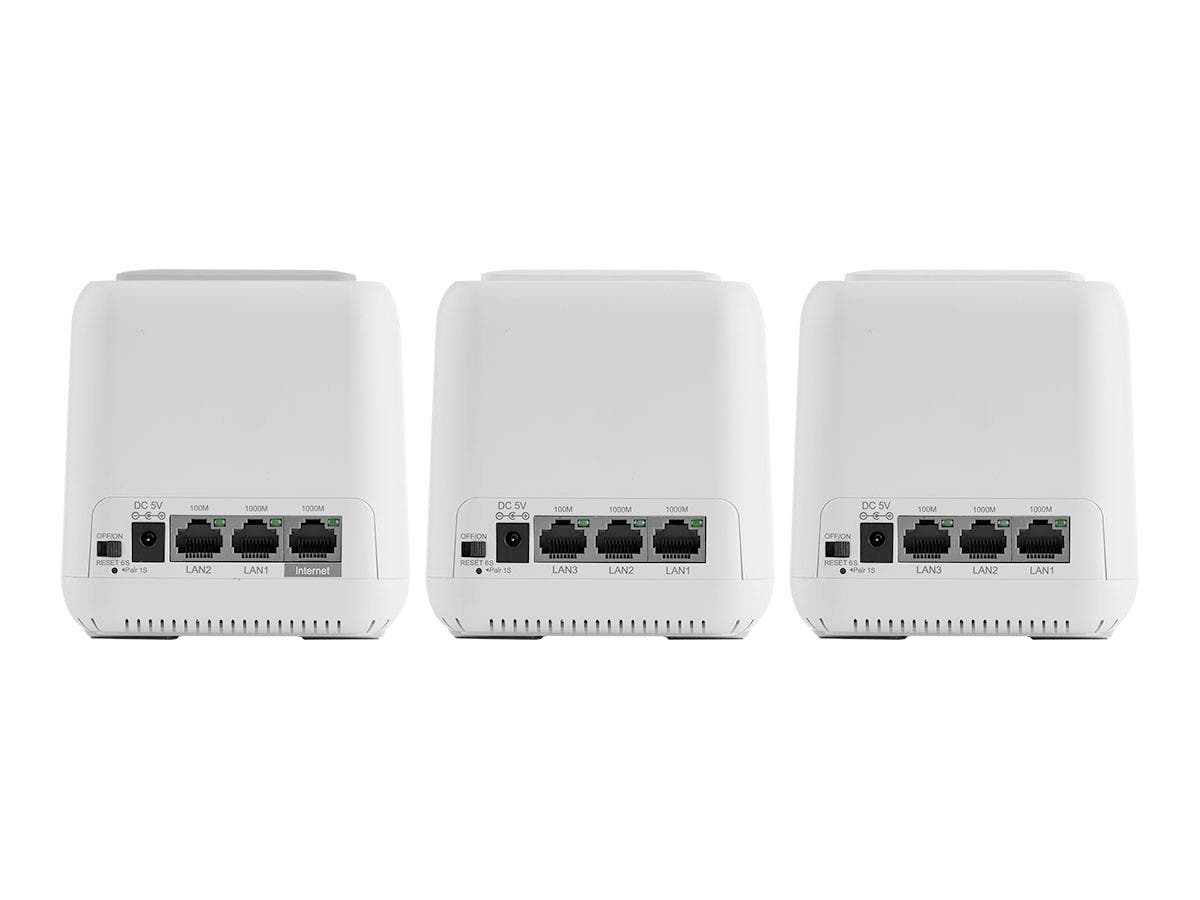 Wi-Fi Mesh Router AC1200 | Dual Band Whole Home System | 4500 sq.ft. Coverage | 1 Router 2 Satellites | For EU