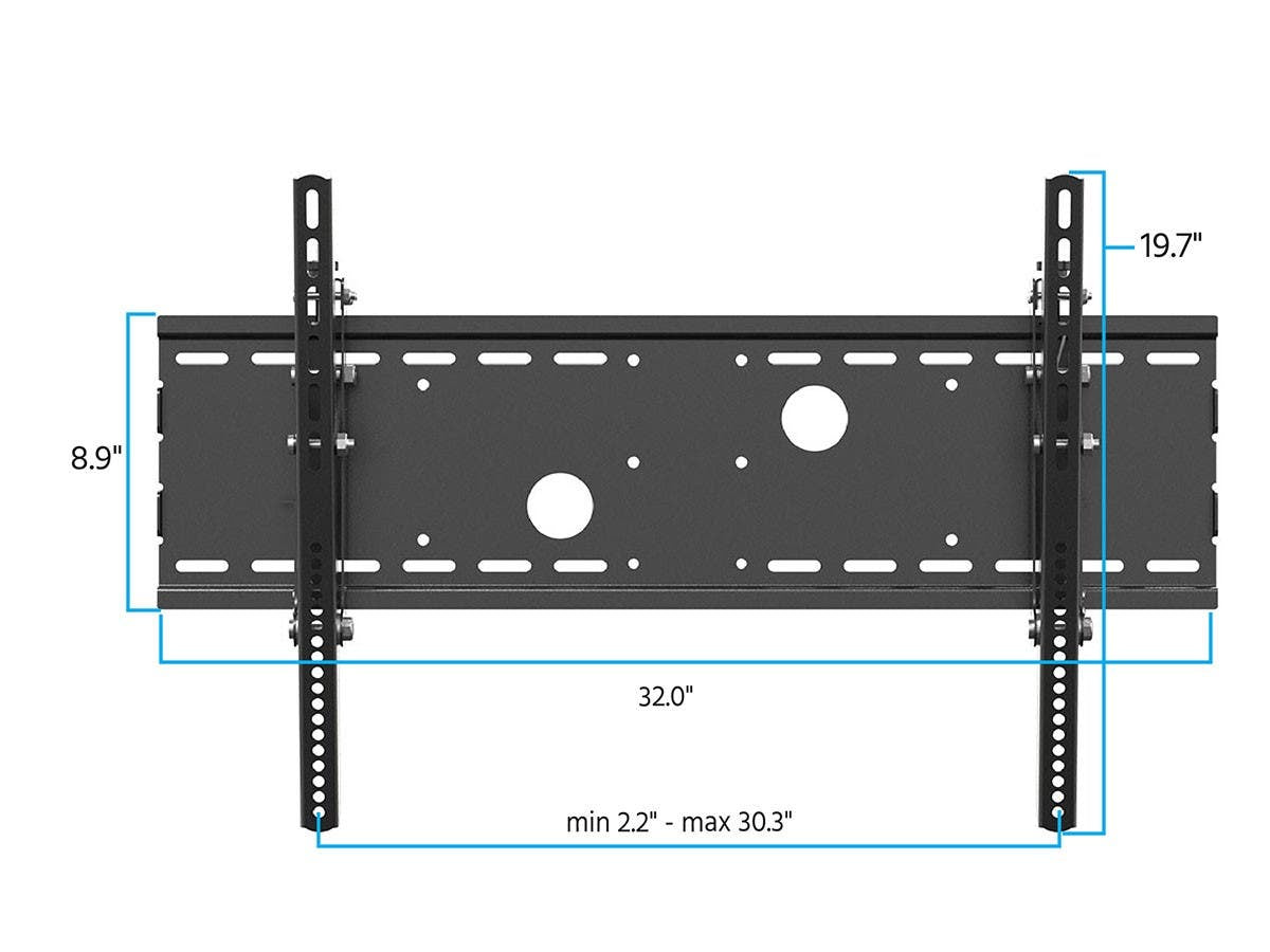 Tilt TV Wall Mount Bracket For TVs 30in to 63in  Max Weight 165lbs  VESA Patterns Up to 750x450  UL Certified by Monoprice