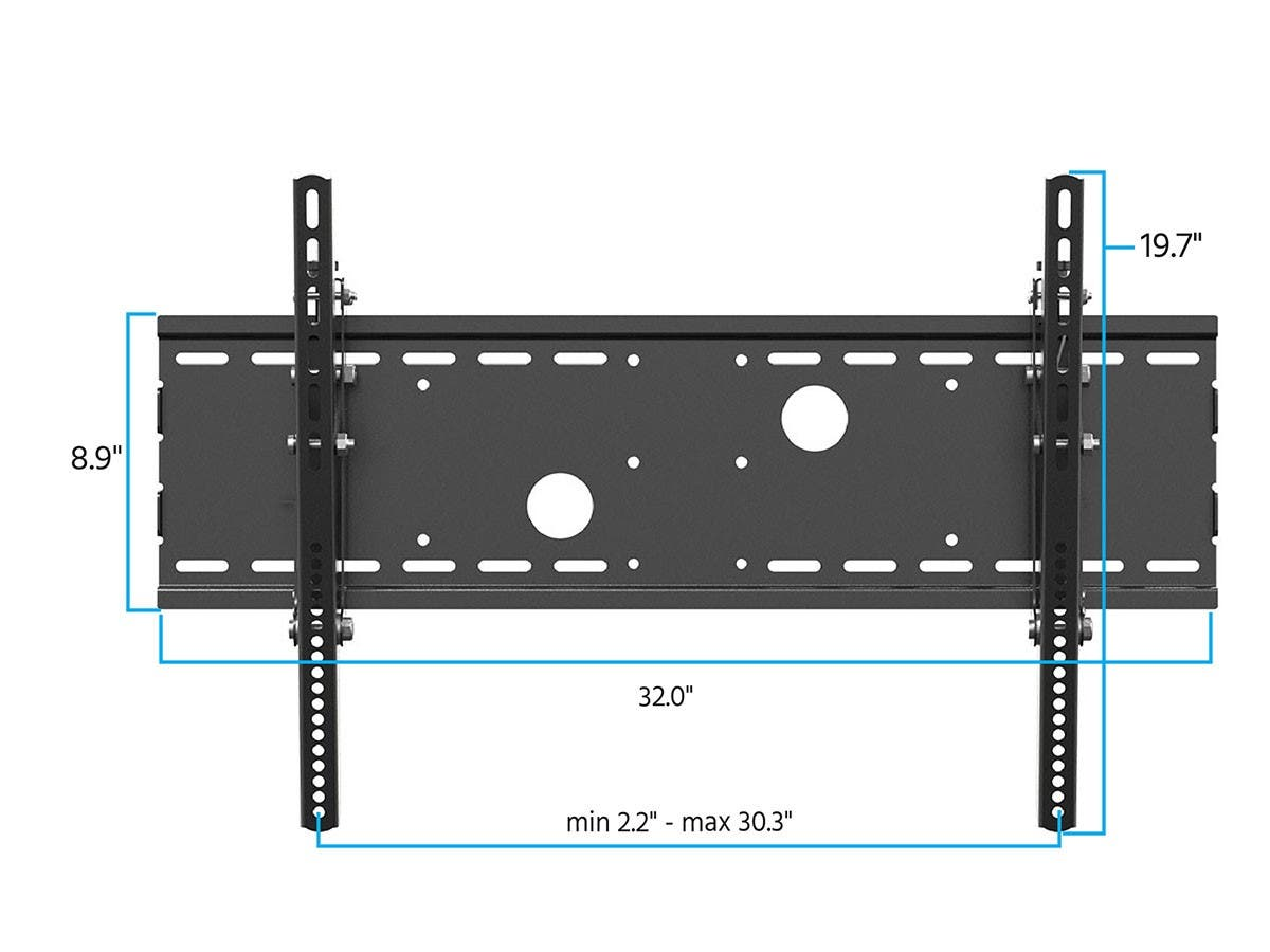 Tilt TV Wall Mount Bracket For TVs 30in to 63in, Max Weight 75 kg (165 lbs), VESA Patterns Up to 750x450, UL Certified by Monoprice