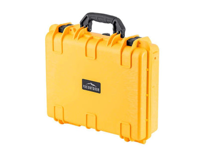 "Pure Outdoor by Monoprice Weatherproof Hard Case with Customizable Foam, 48 x 40 x 15 cm (19"" x 16"" x 6""), Yellow"