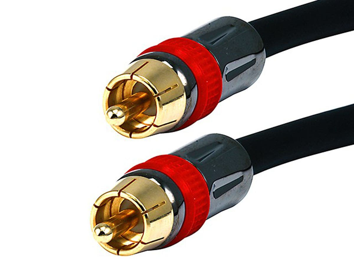 35ft High-quality Coaxial Audio/Video RCA CL2 Rated Cable - RG6/U 75ohm (for S/PDIF  Digital Coax  Subwoofer & Composite Video) by Monoprice
