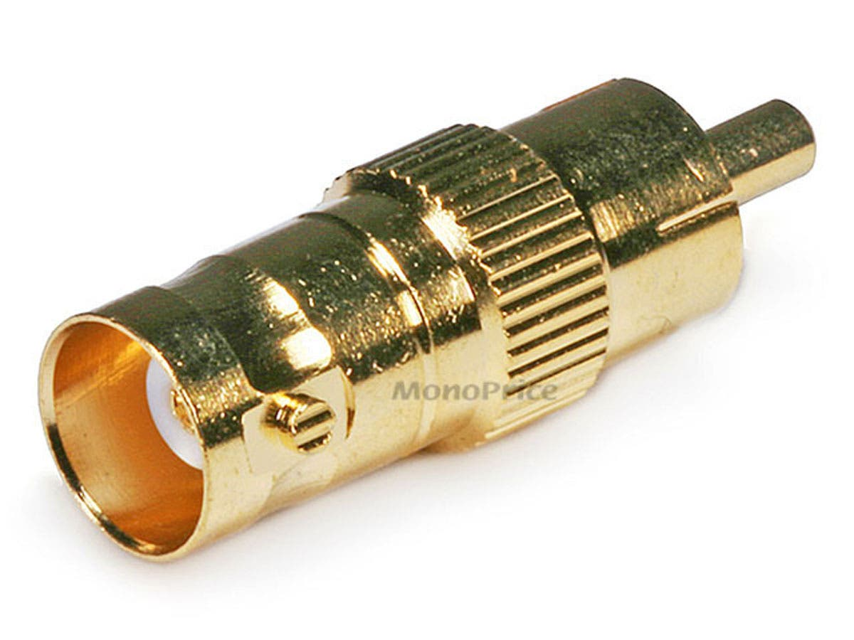 BNC Female to RCA Male Adapter - Gold Plated by Monoprice