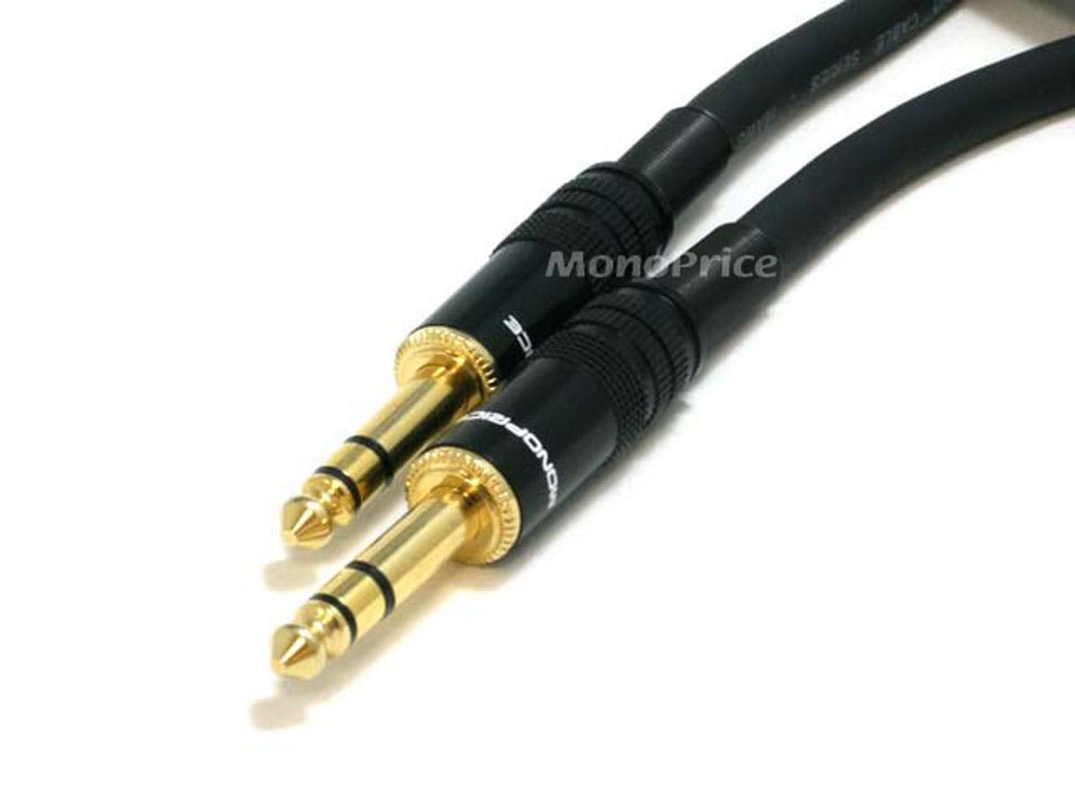 Premier Series 1/4in TRS Male to Male Cable  16AWG (Gold Plated) by Monoprice