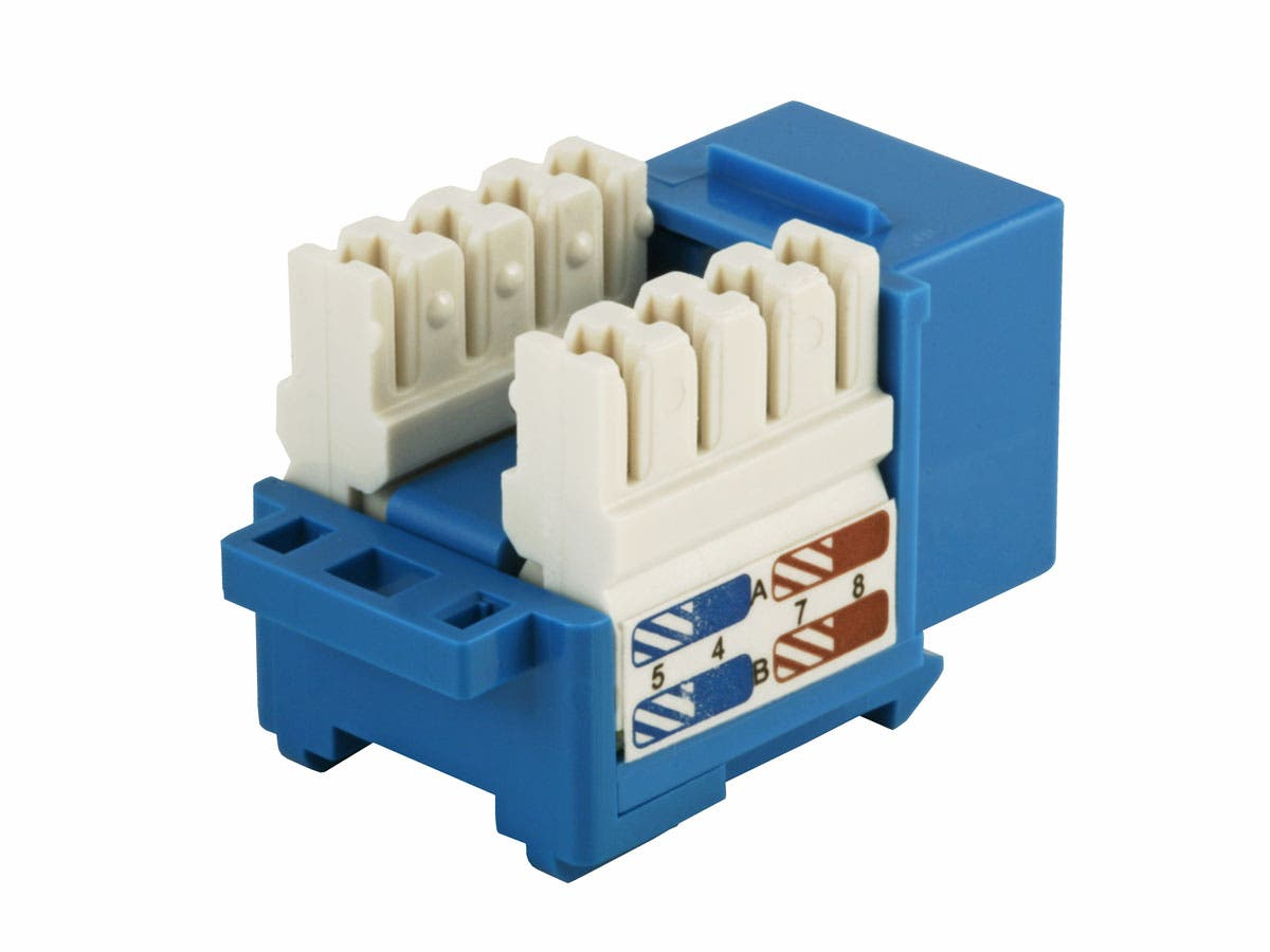Cat6 Punch Down Keystone Jack by Monoprice