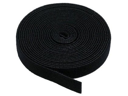 Hook & Loop Fastening Tape, 3/4-inch Wide, 5 yards/Roll - Black by Monoprice