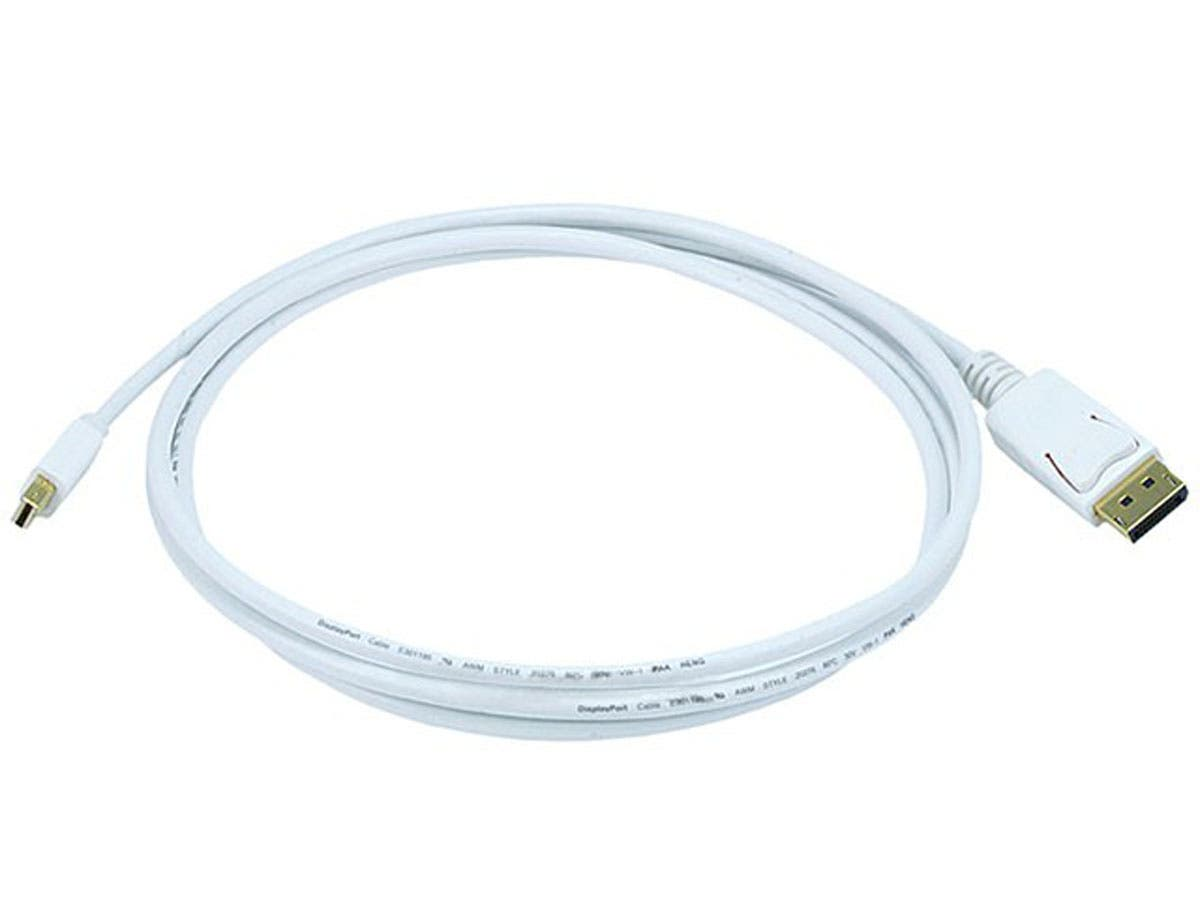 Monoprice 32AWG Mini DisplayPort to DisplayPort Cable, White