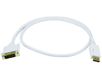 Monoprice 28AWG DisplayPort to DVI Cable, White