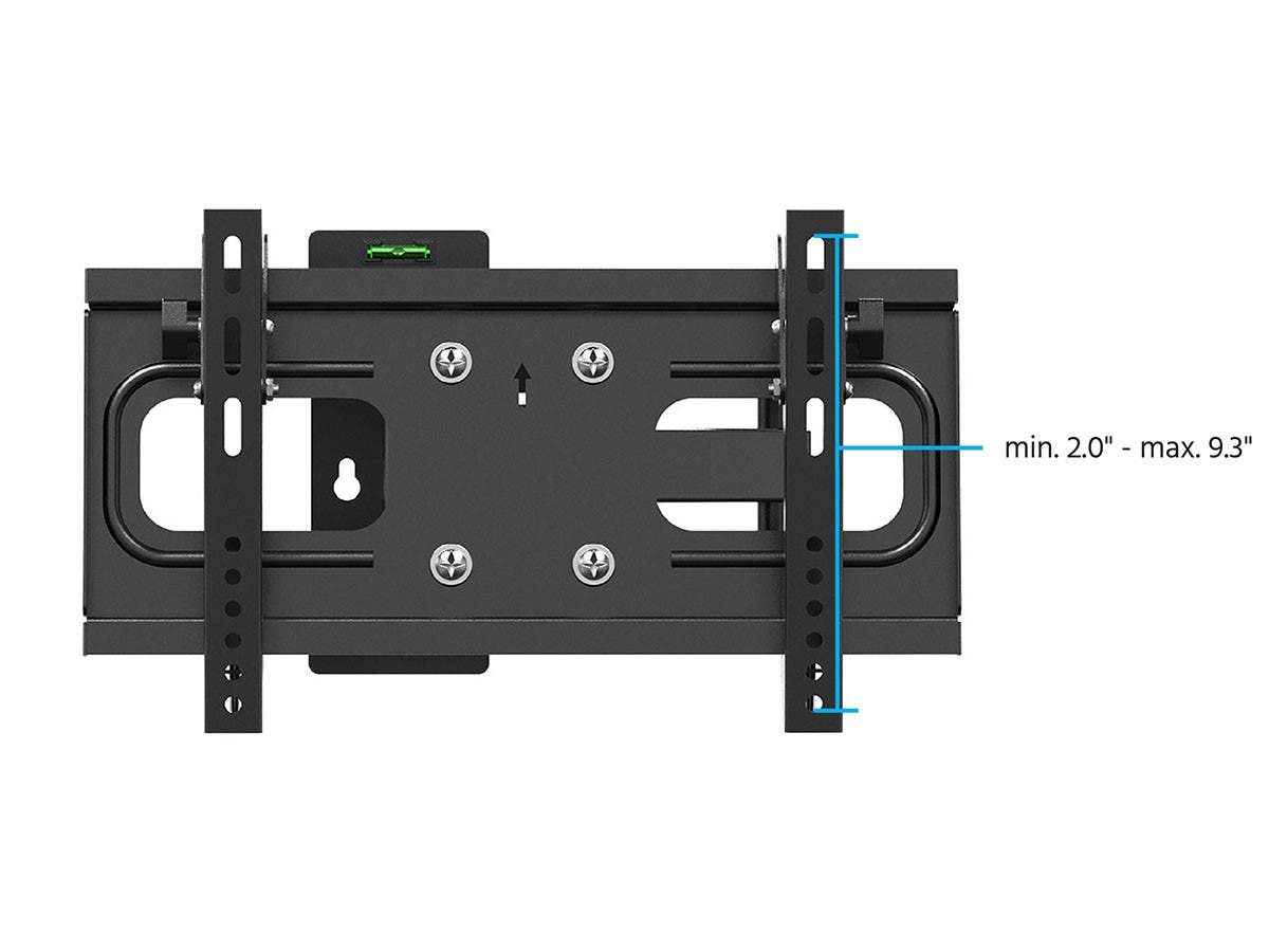 Full-Motion Articulating TV Wall Mount Bracket for TVs 32in to 55in  Max Weight 88 lbs  Extension Range of 3.8in to 18.7in  VESA Patterns Up to 400x200  Works with Concrete & Brick by Monoprice