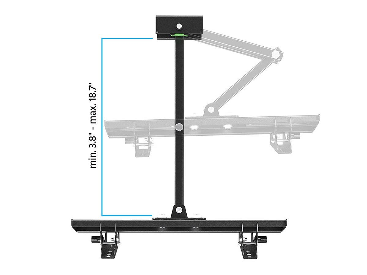 Full-Motion Articulating TV Wall Mount Bracket for TVs 32in to 55in  Max Weight 39,9 kg (88 lbs)  Extension Range of 3.8in to 18.7in  VESA Patterns Up to 400x200  Works with Concrete & Brick by Monoprice