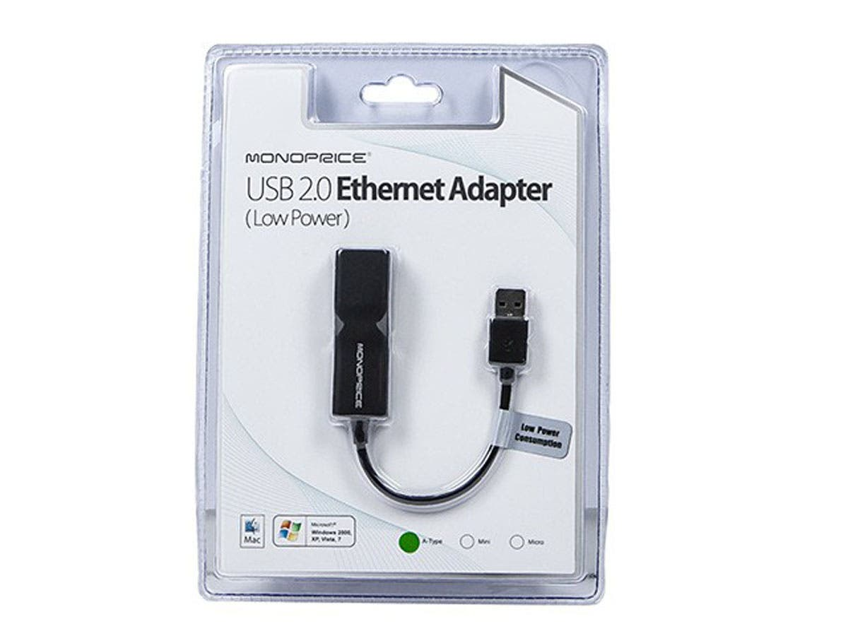 USB 2.0 Ultrabook Ethernet Adapter | Low Power