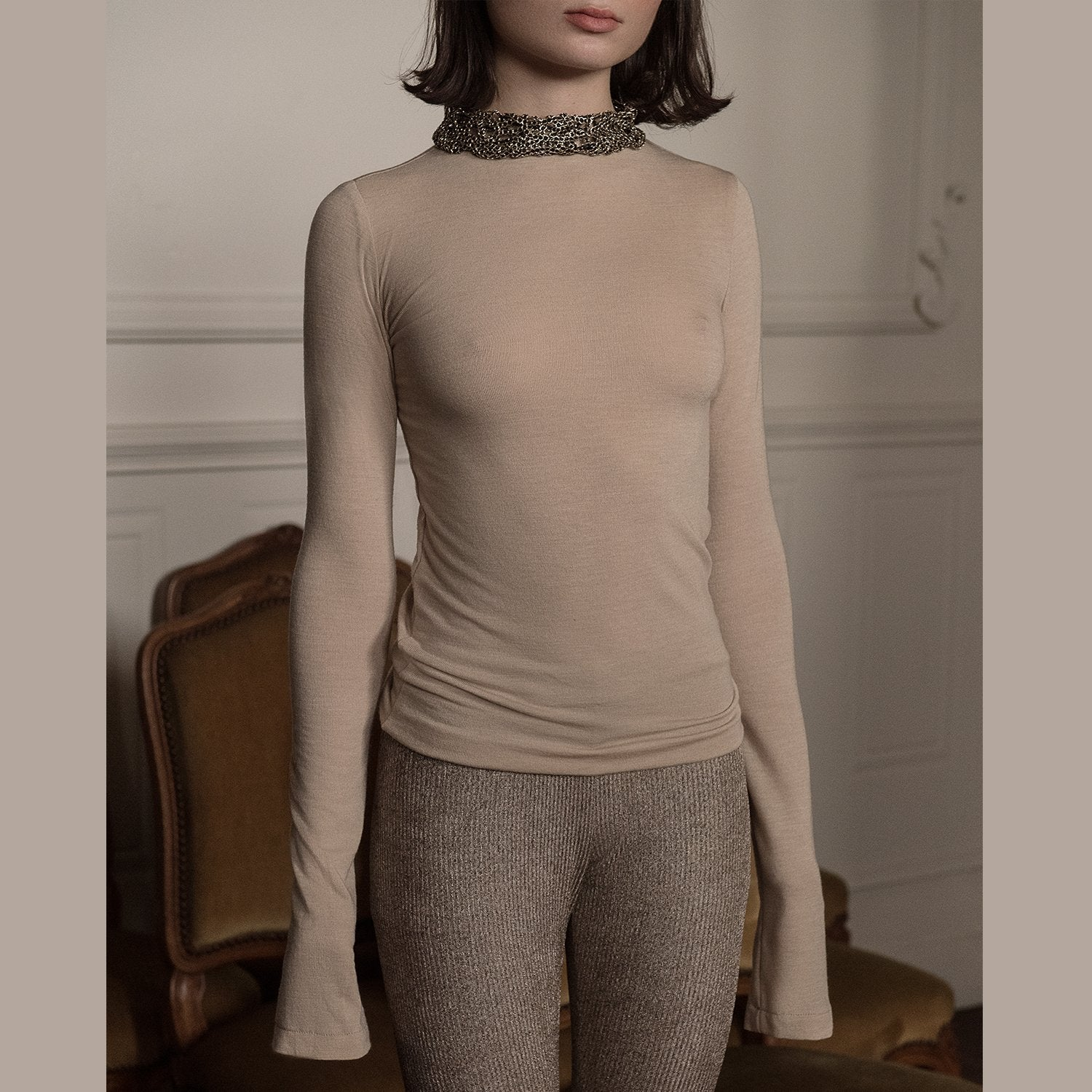 <b>N°1</b> <p><b>oyster long sleeve top</b> <p>