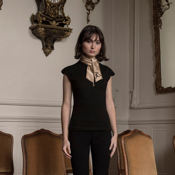 <b>N°1</b> <p><b>black cap sleeve top</b> <p>