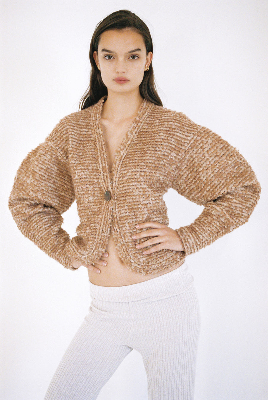 Mohair Wool Blend Cardigan <p>CD1-KMV