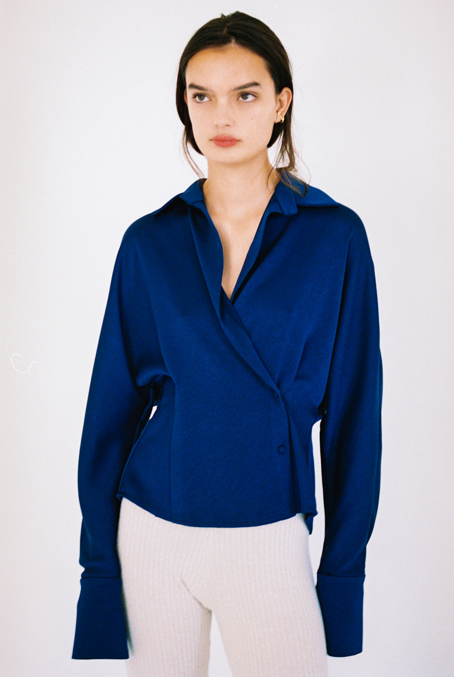 Satin Wrap Blouse <p>SH5-S279