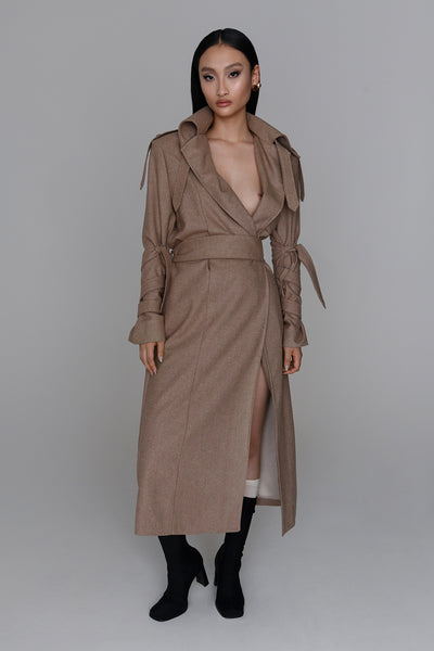 <b>N°6</b> <p><b>Lamar Trench Coat</b> <p></b>biscuit