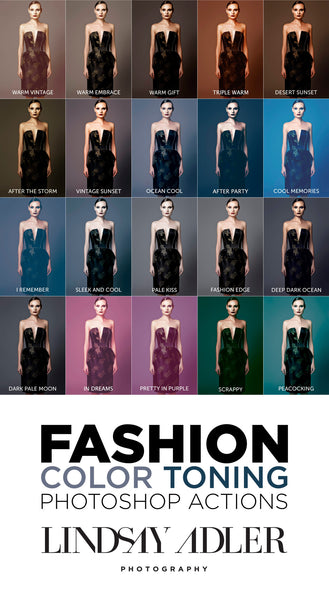 20 Fashion Color Toning Photoshop Actions