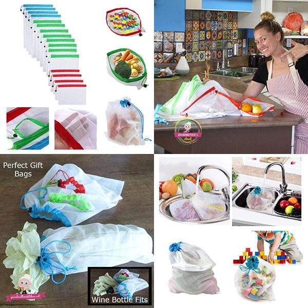 16 Pack Mesh Grocery Bags - $21 PROMO FREE SHIPPING TODAY