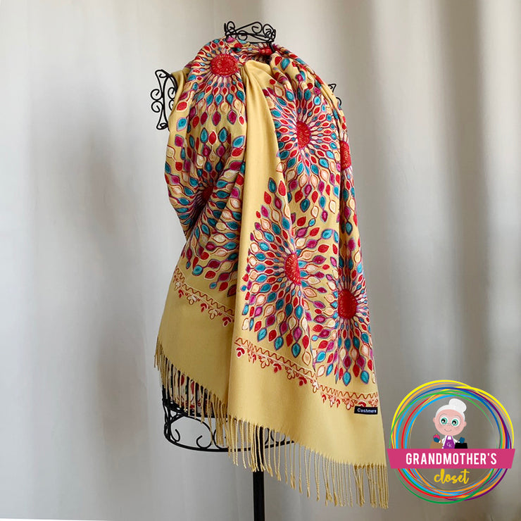 Embroidered Sun Shawls - $42 PROMO FREE SHIPPING