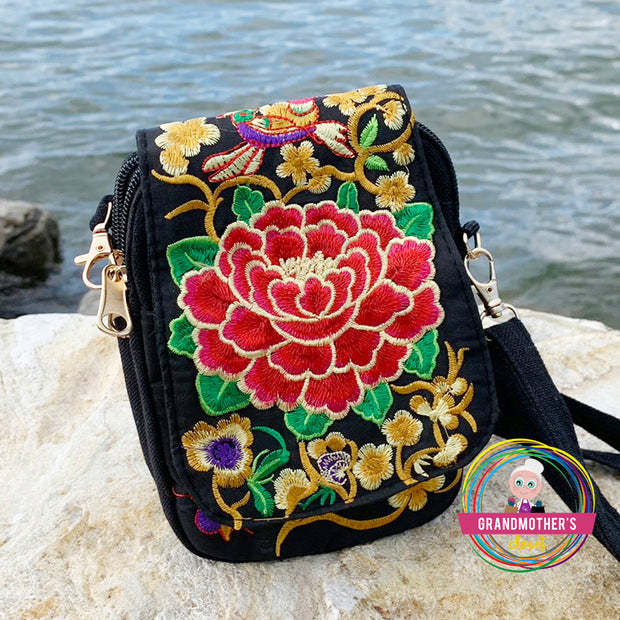 Embroidered Strap Bag Purse - $32 PROMO FREE SHIPPING