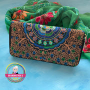 Zippered Embroidered Wallet - $19 PROMO FREE SHIPPING