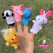 10 Piece Plush Animal Finger Puppet SET -$19.95 PROMO FREE SHIPPING