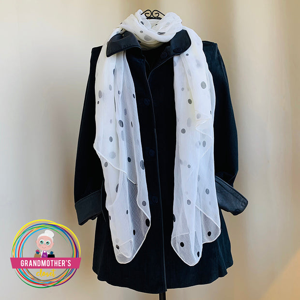 Polka Dot Silky Style Scarves - $25 PROMO FREE SHIPPING TODAY
