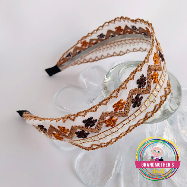 Sweet Embroidered Headbands - Fall Collection -  50% OFF THE SET OF 4 for $56.00 & FREE SHIPPING