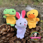 10 Piece Plush Animal Finger Puppets -$19.95 PROMO FREE SHIPPING