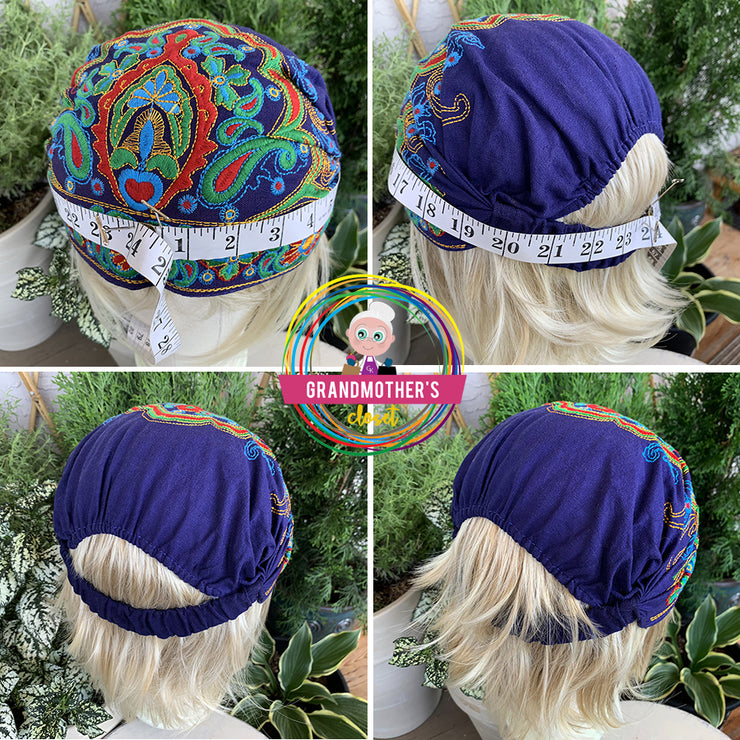Embroidered Bandana Caps - $22 PROMO FREE SHIPPING or SAVE 20$ BUYING THE SET OF 4