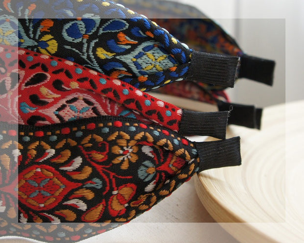 Sweet Embroidered Headbands - 30% OFF SET of 3 - $54.00 & FREE SHIPPING