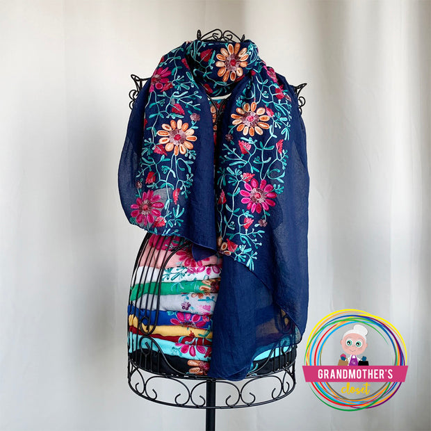Light Embroidered Scarves - $28 PROMO FREE SHIPPING
