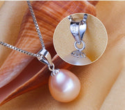 Natural Freshwater Pearl & 925 Sterling Silver Necklace - $39.99 PROMO FREE SHIPPING