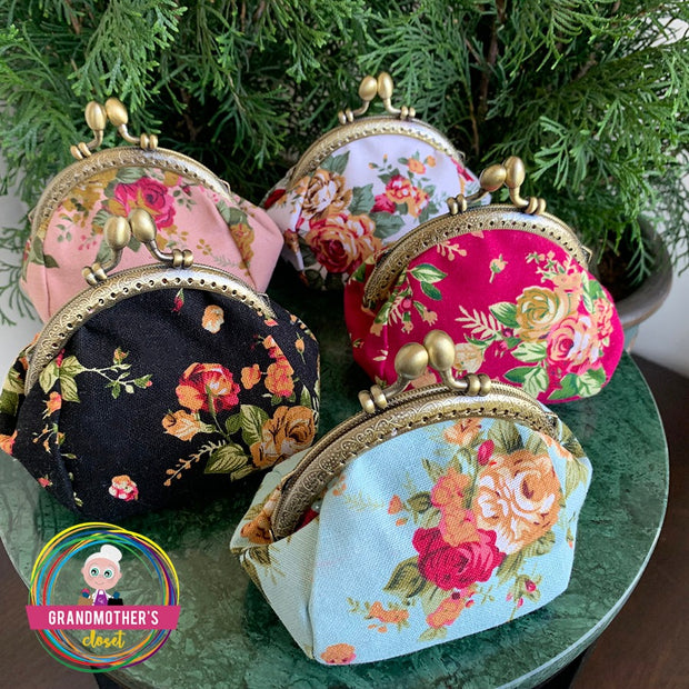 Grandmother's Vintage Style Coin Purse - 50% OFF SETS OF 3 and 5