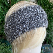 100% UP-CYCLED CANADIAN HANDMADE ARTISAN KNIT HEADBANDS - SUPER SOFT GRAY