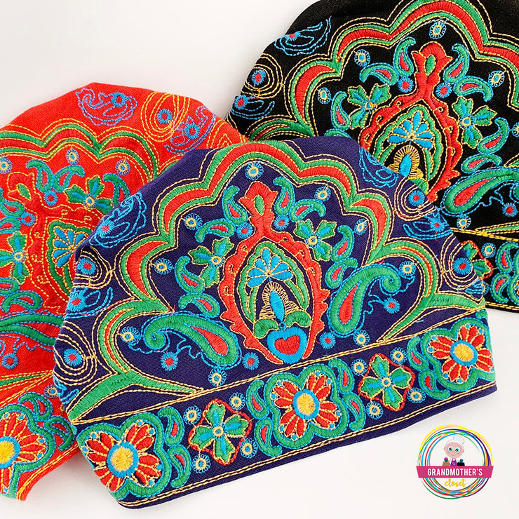 Embroidered Bandana Caps - SAVE 20$ BUYING THE SET OF 4
