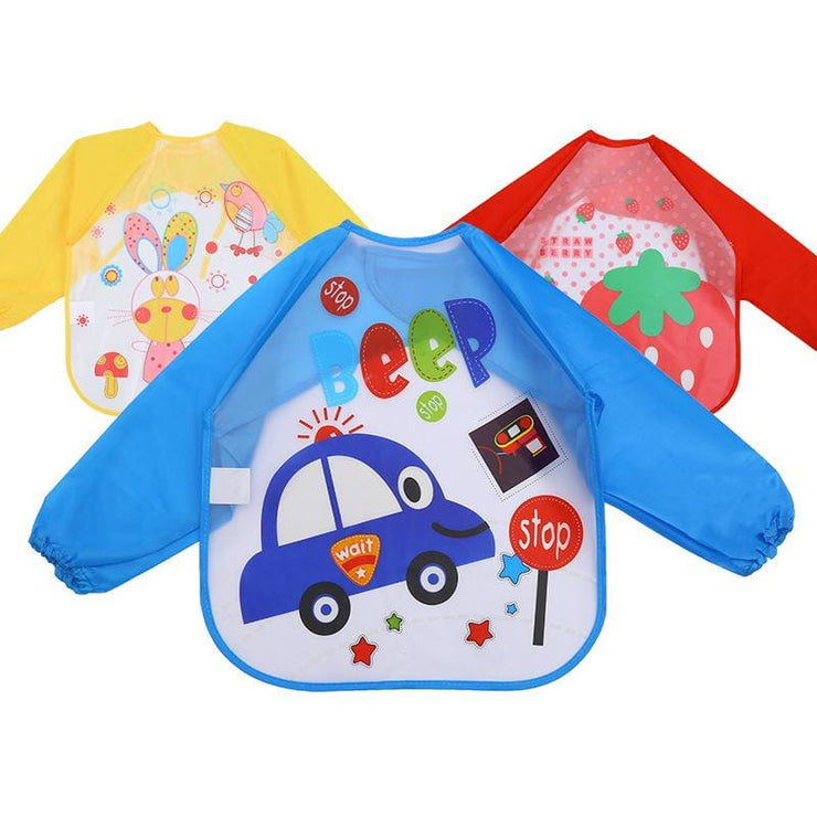 Art & Mealtime Pinny - Blue Car