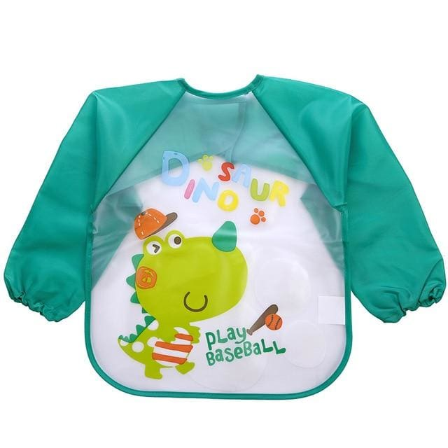 Art & Mealtime Pinny - Green Dinosaur