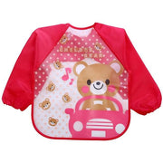 Art & Mealtime Pinny - Pink Bear