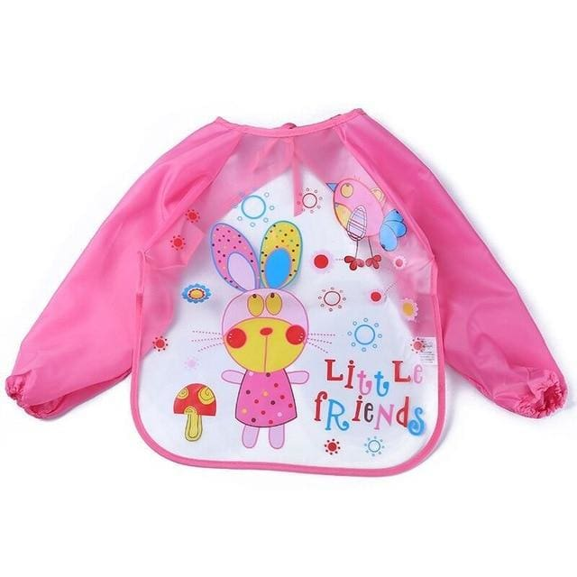 Art & Mealtime Pinny - Pink Rabbit