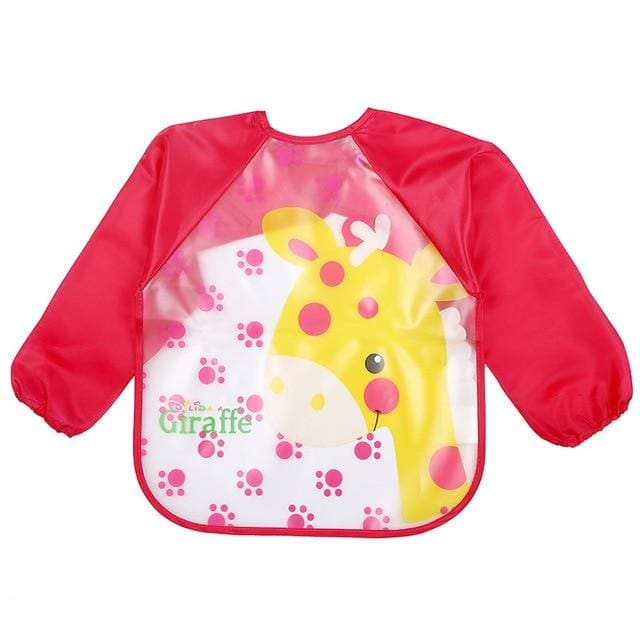 Art & Mealtime Pinny - Red Giraffe