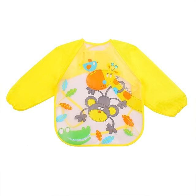 Art & Mealtime Pinny - Yellow Monkey Fun
