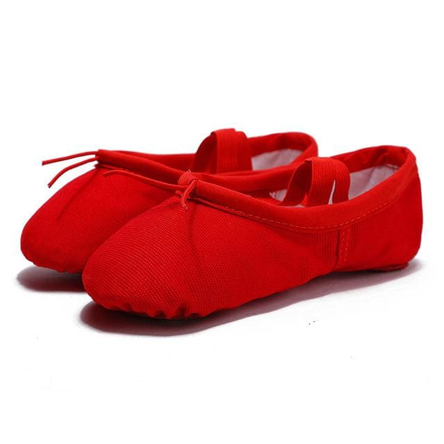 Ballet Slippers - Adult & Children - Red / Child 6 - EU 26