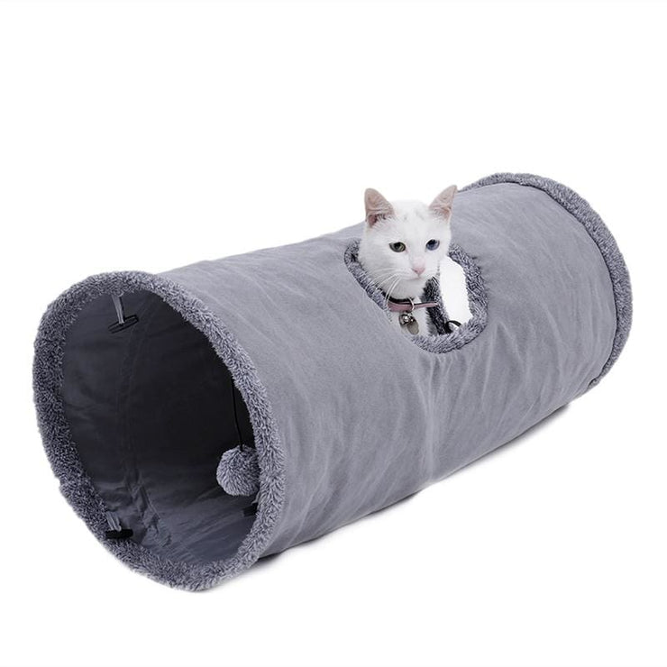 Best Ever Cat Tunnel - Gray / One Hole
