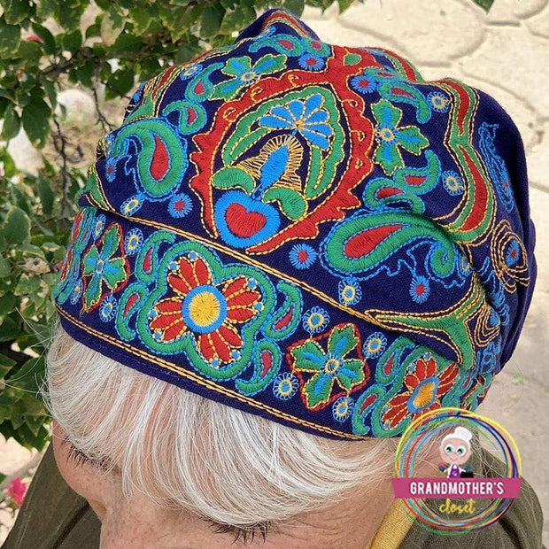 Embroidered Bandana Caps - $19 PROMO FREE SHIPPING TODAY - Blue