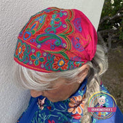 Embroidered Bandana Caps - $19 PROMO FREE SHIPPING TODAY - Fuchsia
