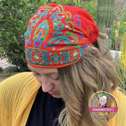 Embroidered Bandana Caps - $19 PROMO FREE SHIPPING TODAY - Red