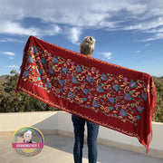 Embroidered Blossom Shawl - $36 PROMO FREE SHIPPING TODAY