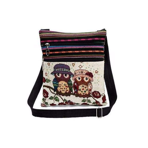 Embroidered Owl Shoulder Bag - $16 PROMO FREE SHIPPING TODAY - Hootie & Minerva