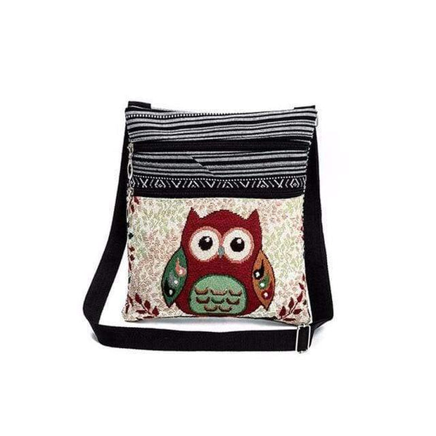 Embroidered Owl Shoulder Bag - $16 PROMO FREE SHIPPING TODAY - Owlivia